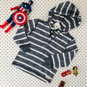 Boys size 3-4 H&M stripe Hoodie long sleeve Tshirt
